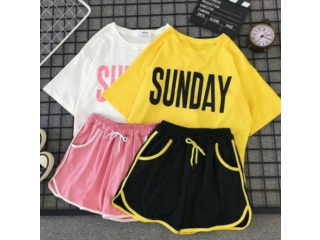 SET SUNDAY ATASAN + CELANA UKURAN ALLSIZE FIT L
