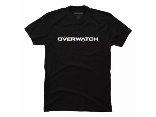 OVERWATCH TEXT LOGO GAMING T-SHIRT