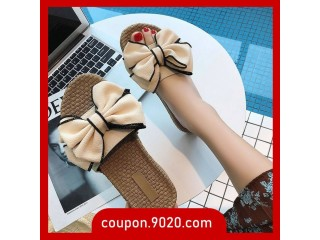 Female word sandals wear students Korean cute wild flat sandals