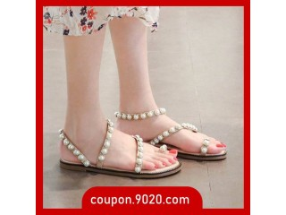 Women's Pearl Travel Sandals Vacation Wild Toe Roman Sandals