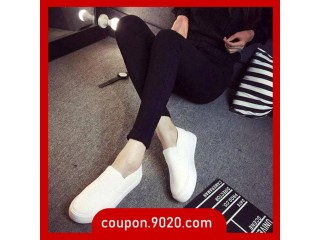 Women's Loafers Student Canvas Shoes Women's Feet Breathable Black Loafers