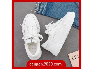 Woman's white shoes flat student casual shoes sneakers