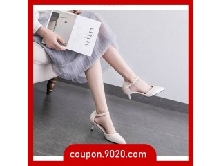 Women's high heel versatile buckle with stiletto shoes sandals