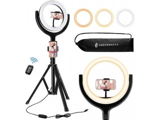 Amazon: Ring Light with Tripod Stand 2 Phone Holders and Bluetooth Remote for ONLY $19.09 (Reg. $49.99)