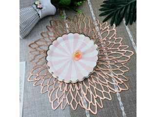 Amazon: Rose Gold Round Placemats for Dinner Table Set of 6 for only $7.99 (Reg: $15.89)