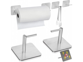 Amazon: Magnetic Paper Towel Holders Heavy Duty Steel Brushed Just $8.3 after code (Reg. $15.99)