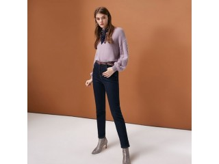 Women's High-rise Brushed Slim Fit Jeans